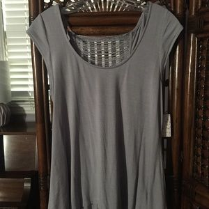 Free People backless, silver blouse, never worn!